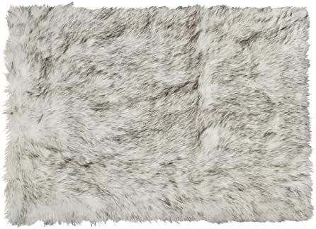 Luxe Faux Fur Luxury Soft Premium Quality Thick Lush Fade Resistant Shed Free 100 Animal-Free Hudson Faux Sheepskin Area Rug, 2 ft x 3 ft, Gradient Grey