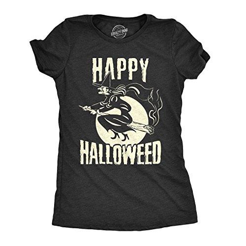 Crazy Dog T-Shirts Womens Happy Halloweed Tshirt Funny