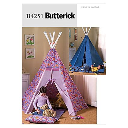 Amazon.com: Butterick Patterns B4251 Teepee and Mat, One Size Only ...