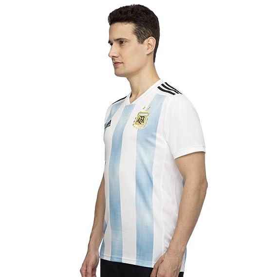 adidas Argentina Camiseta de Equipación, Hombre, Blanco (azucla ...