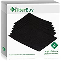 6 - FilterBuy Fellowes AeraMax 300 Replacement Carbon Filters, Part 9324201. Designed by FilterBuy to fit AeroMax 300 Air Purifiers.