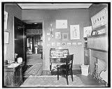 Photo: Residence,Dr JH Lancashire,interior,den,fireplace,dwelling,Alma,Michigan,MI,1900