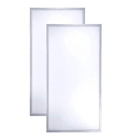 LED Panel Lighting Fixture - 2x4 ft Ultra Thin Non-Flickering  Anti-Yellowing Lighting with Laser Aluminum Frame - 72W, 5000K, 100-277V,  7920lm -