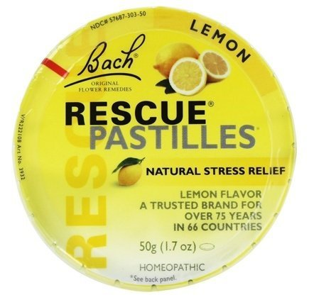 Bach Rescue Remedy Natural Stress Relief Pastilles Lemon Flavor 1.7 (Nelson Homeopathic Remedies)