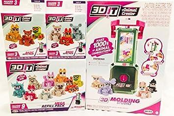 3DIT Animal Creator 3D Molding Studio Bundle w/ Mega Refill and 2