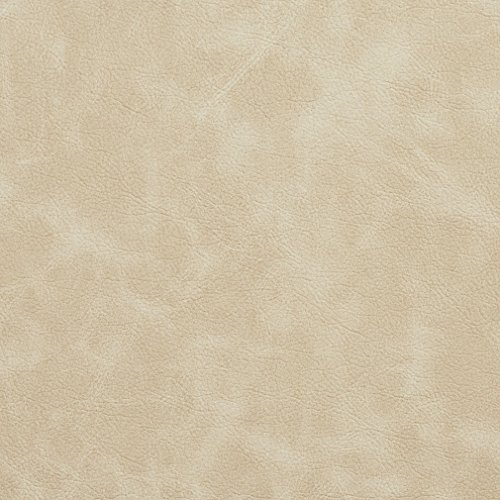 G406 Ivory Matte Distressed Breathable Leather Look And Feel Upholstery By The Yard ()