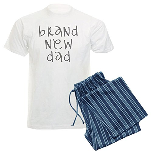 CafePress brand new dad gray stacked Pajamas Comfortable Sleepwear