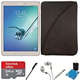Samsung Galaxy Tab S2 9.7-inch Wi-Fi Tablet (Gold/32GB) SM-T810NZDEXAR 64GB MicroSDXC Card Bundle includes Galaxy Tab S2, 64GB MicroSDXC Memory Card, Stylus Stylus Pen, Protective Tablet Sleeve