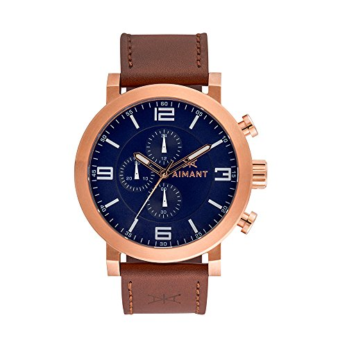 AIMANT-Mens-Maui-Rose-Gold-with-Brown-Leather-Band-Watch-GMU-140L5-2RG