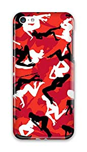 CaseandHome Red Sexy Lady Camo Design Hard Case for iphone 5C