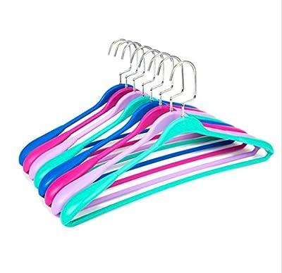 GFYWZ Hanger Multicolour Plastic non-slip Wide shoulder No trace Adult hanger Drying Racks (pack of 10)