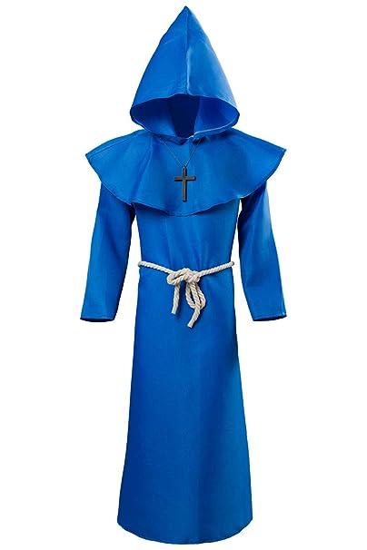 Amazon.com: DIFFERONE - Disfraz de monje con capucha para ...