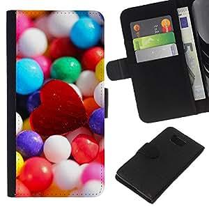 Stuss Case / Funda Carcasa PU de Cuero - Corazón de caramelo - Samsung ALPHA G850