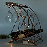 Bottles wine rack,European wine holder creative strong and decorative wine standing oranament decor with led-C L11W11H16inch(282740cm)