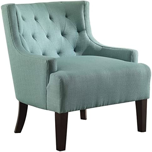 Homelegance Tufted Fabric Accent Chair with Arms, Teal