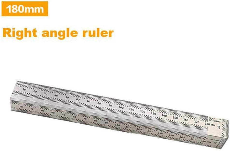 Luckyx High Precision Scale Ruler Right Angle Ruler T Type Hole Ruler Stainless Steel Ruler Measure Scribing Carpenter Measuring Tool For Woodworking Mark Line Gauge