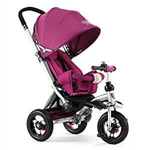 Triciclos Triciclo para niños Bicicleta reclinable Carrito de bebé para niños 3 ruedas Bicicleta para niños