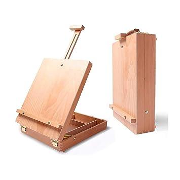 Caballete de caja de mesa de madera - Caballete de caballero y ...