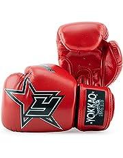 YOKKAO Breathable Microfiber Muay Thai Boxing Glove - Black, Red, Blue, White, Yellow, 8oz, 10oz, 12oz, 14oz, 16oz Gloves