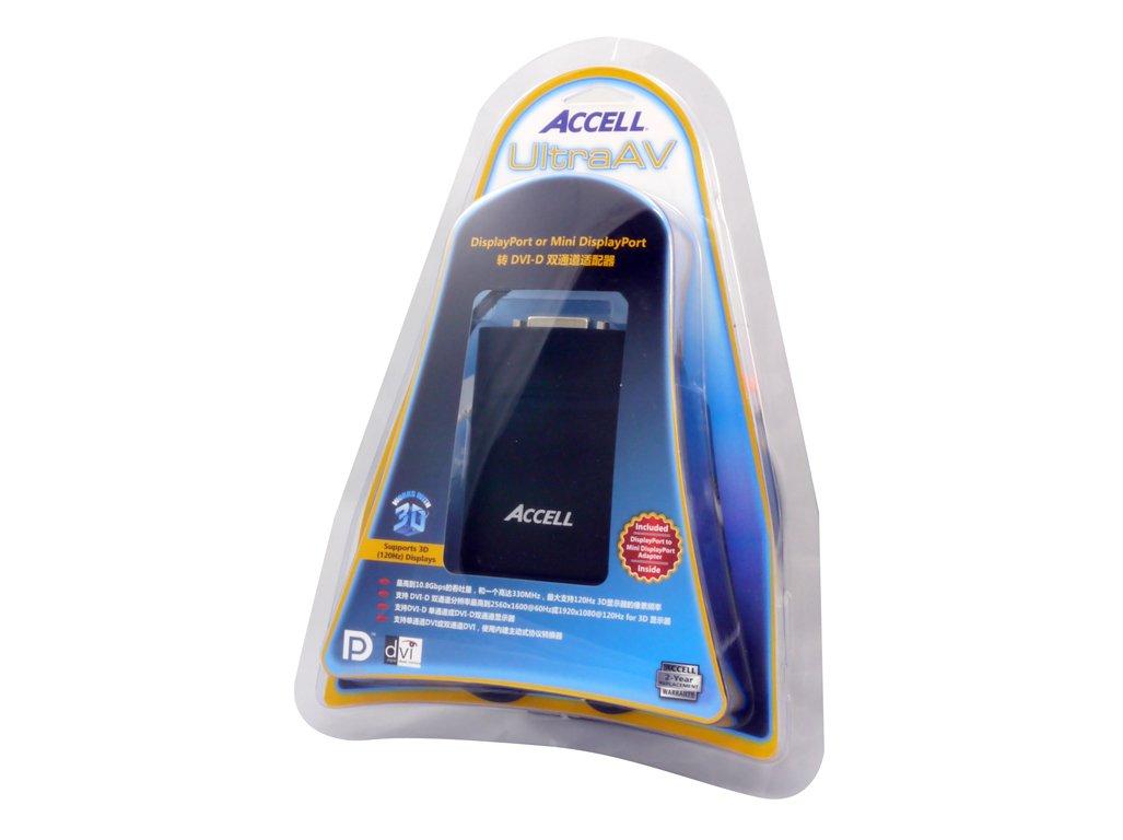 @60Hz WQXGA DisplayPort to DVI-D Dual-Link Active Adapter 1920x1080 @60Hz 2560x1600 Accell DP to DVI Adapter