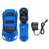 Student Flip Phone for Ferrari Car-Shape Phone Flip Keypad Car Model Mobile Phone