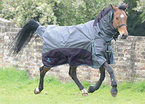 (マスタ) Masta 馬用 Fieldmasta 100g ターンアウト ラグ 固定ネック 馬着 乗馬 ホースライディング ブルー/グレー 5フィート3