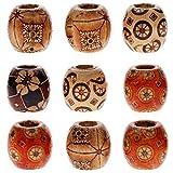 Best KeyZone Bracelets - KeyZone Wholesale 100pcs 12mm Mixed Painted Drum Wood Review