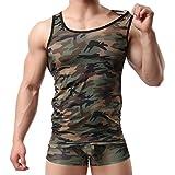 YUFEIDA Men's Camouflage Undershirt Vest Tank Top