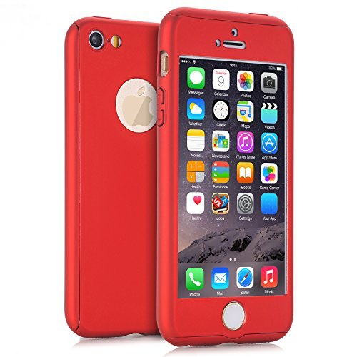 iPhone 5S Case, iPhone 5 Case, MCUK Full Body Coverage Ultra-thin Hard Hybrid Plastic with [Slim Tempered Glass Screen Protector] Protective Case ...
