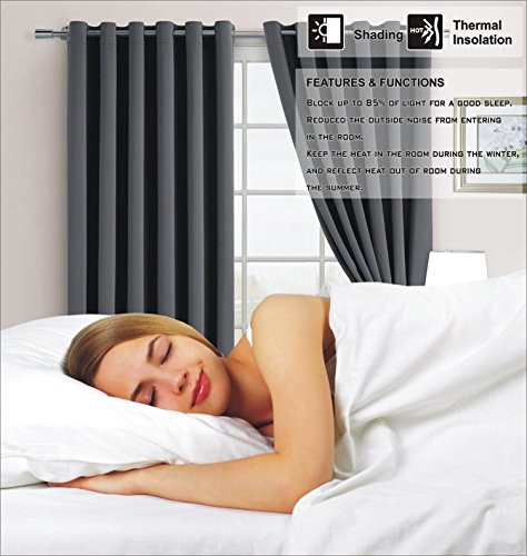 Super Soft Quality Thermal Insulated Eyelet Energy Saving Blackout Curtains Ready Made Ring Top Eyelet90 Wide X 90 DropDark Grey Amazoncouk