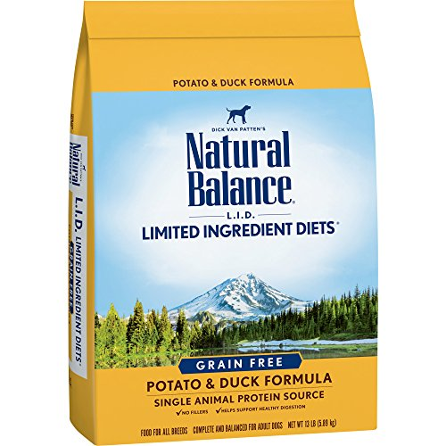 Natural Balance L.I.D. Limited Ingredient Diets Dry Dog Food, Grain Free, Potato & Duck Formula, 13-Pound