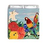 Parrot Garden Art Bed Comforter From Art (Toddler 42 x 58)