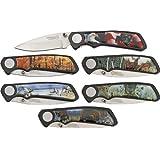 AMERICAN HUNTER Wildlife 6 Pc Pocket Knife Set