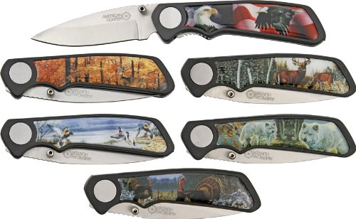 AMERICAN HUNTER Wildlife 6 Pc Pocket Knife Set