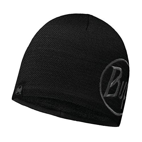 Microfibra Punto Adulto Solid black de Logo de Buff Gorro Black aEwqTw1