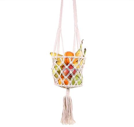 Amazon.com: SI Macrame - Percha para cesta de fruta (48 L x ...