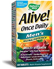Nature's Way Alive! Once Daily Men's Ultra Potency,60 tablets.