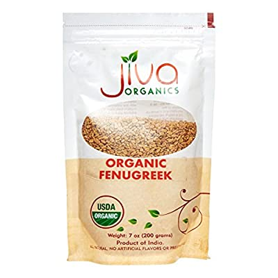 Jiva USDA Organic Fenugreek Whole Methi Seeds 7 Ounce - Nearly 1/2 Pound by Jiva