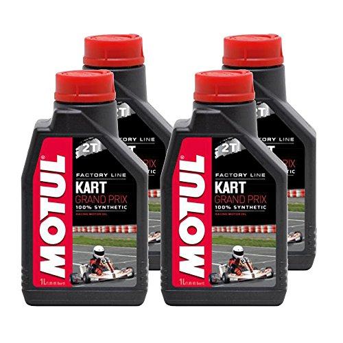 (Motul 105884-CS Kart Grand Prix Synthetic 2T Oil, 4 Pack (1 L), 33.81 Fluid_Ounces)