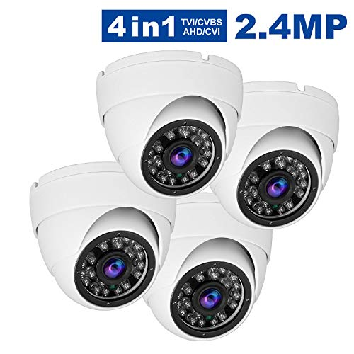 - Anpvees CCTV Dome Security Camera(4pack), Hybrid HD 1080P 4 in 1 (TVI/CVI/CVBS/AHD) Analog Security Cameras 3.6mm Lens,Outdoor/Indoor Day & Night Vision