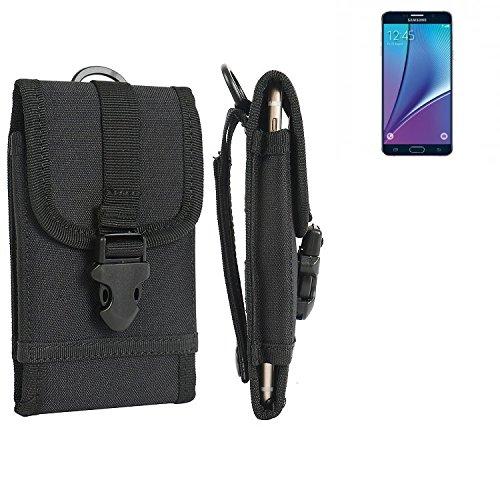 bolsa del cinturón / funda para Samsung Galaxy Note 5, negro | caja del teléfono cubierta protectora bolso - K-S-Trade (TM)