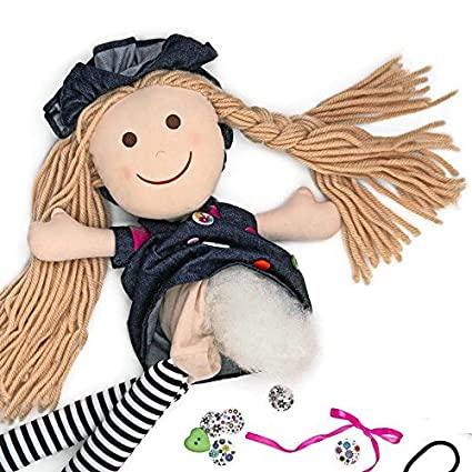 amazon com unique crafts make your own lasting rag doll doll