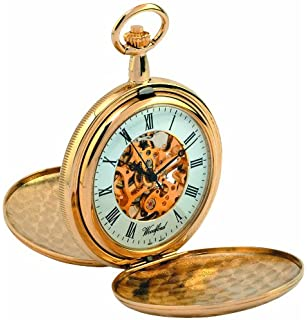 rotary men s quartz watch white dial analogue display and woodford skeleton full hunter pocket watch 1038 men s gold plated twin