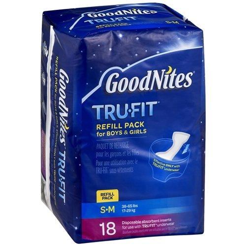 Goodnites Tru-Fit Refill Pack, S/M, 18 ea