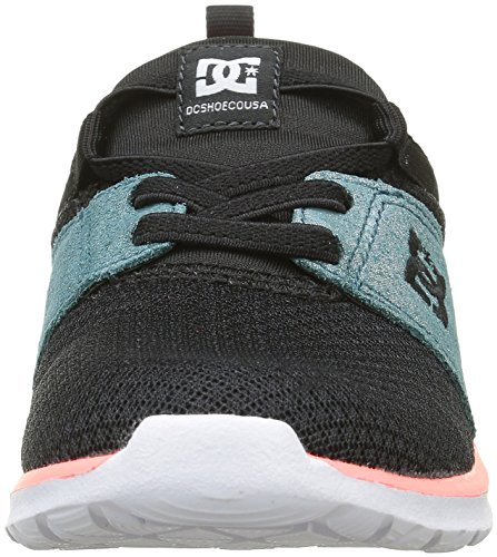 DC Shoes Heathrow Se, Zapatillas Para Niñas Negro (Black / Multi / White)