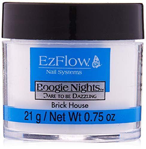 - EZ Flow Dare To Be Dazzling Glitter Brick House False Nails, 0.75 Ounce