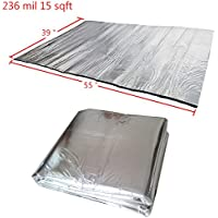 Guteauto 236 mil 15 sqft Sound Deadening Deadener Insulation Mat Automotive Deadener Wall Soundproofing Foam Panels 55 x 39