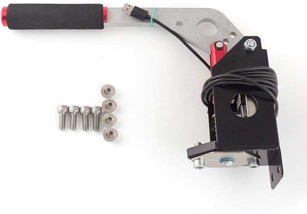 No clamp Nero Compatibile Solo con Sistema PC//Windows Freno a Mano USB con Morsetto per Giochi da Corsa G25 G29 T500 Freno a Mano Universale per SIM Racing