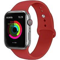 VIKATech Compatible Cinturino per Apple Watch Cinturino 44mm 42mm 40mm 38mm, Cinturino Morbido di Ricambio in Silicone per iWatch Series 4/3/2/1