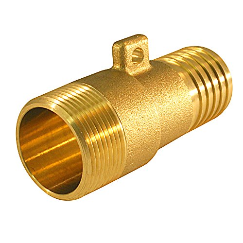 Apollo Valves POLYRPM114 1-1/4-inch Brass Insert Male Rope Adapter For PE - Brass Insert Male